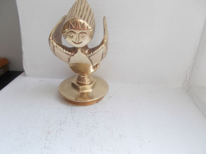 Emblem / mascot - Vintage  Mr Therm brass car mascot on a brass radiator cap stunning and very rare  - 1932-1940