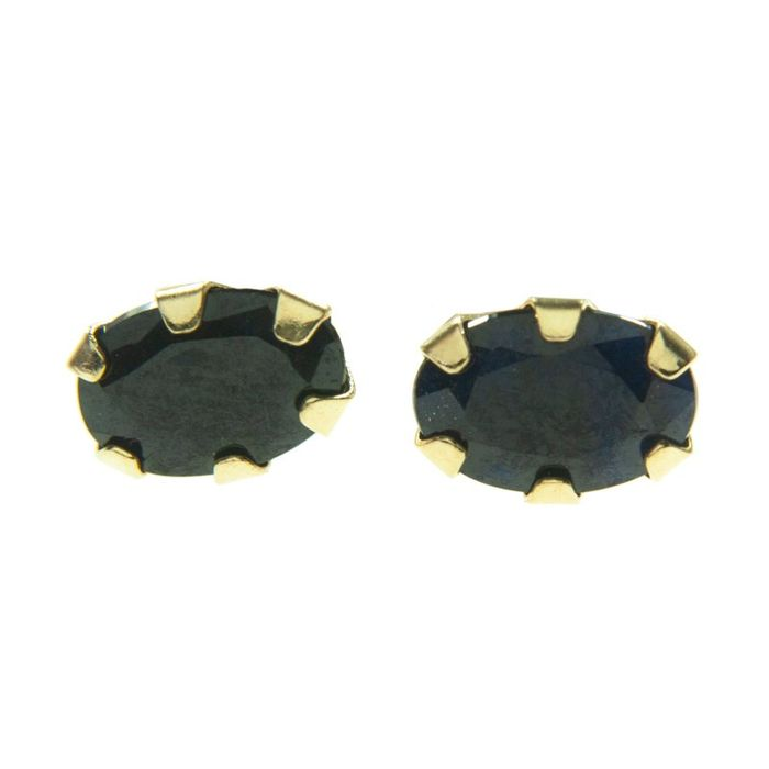 18 kt. Yellow gold - Earrings - 0.72 ct Sapphire