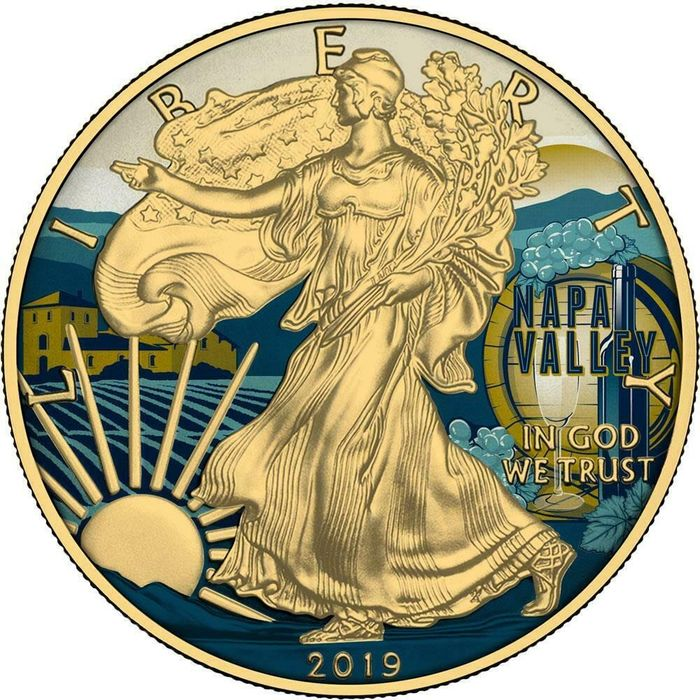 USA - 1 Dollar 2019 - Liberty American NAPA Valley - 1 Oz - Silver