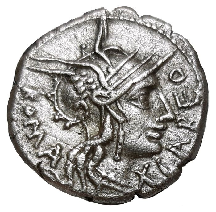 Roman Republic - AR Denarius (19 mm 3.82 gm), Q. Fabius Labeo. Rome c. 124 BC - Cr. 273/1 - Silver