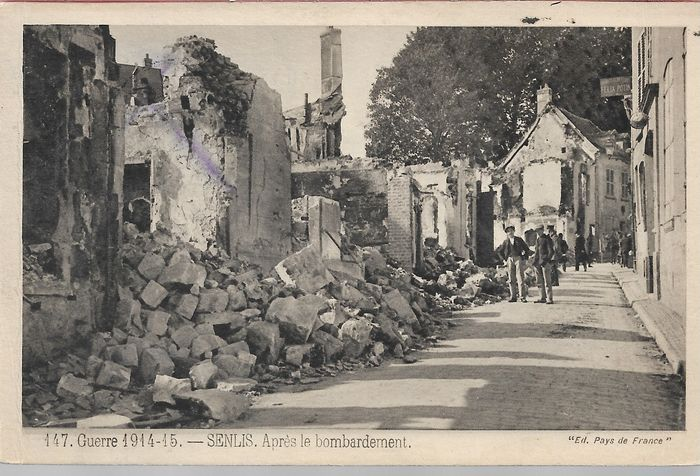France - Military, World War 1, various bombing by the Germans in eastern France - Postcards (Set of 50) - 1914-1918