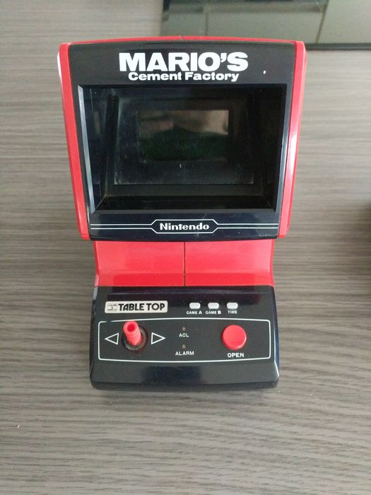1 Nintendo Game & Watch - Tabletop - Mario's cement factory - LCD game - Without original box