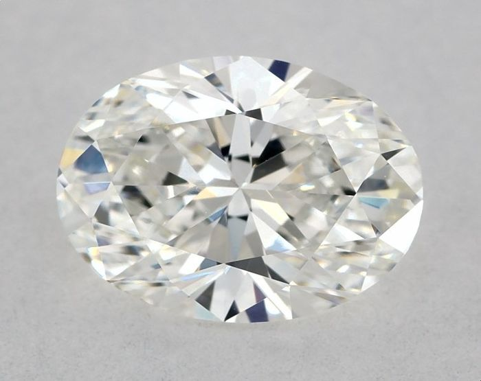1 pcs Diamond - 1.01 ct - Brilliant, Oval - G, GIA - GD/GD - VVS1, Low Reserve Price + Free Shipping