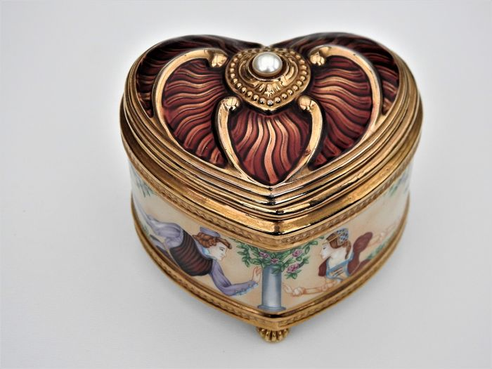 Fabergé - Faberge Imperial Music Box Collection, Romeo and Juliet (1) - Fine Porcelain, 24 carat gold