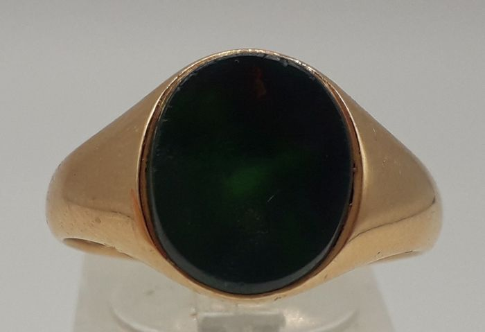 Bloodstone - 18 kt. Yellow gold - Signet Ring