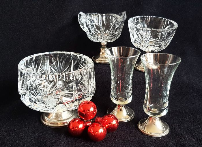 Collection crystal with 835 silver base (5)