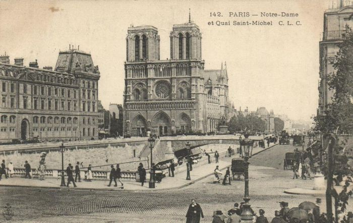 France - Paris - Various streets and sights from div. time images - many Touristy - Postcards (247) - 1900-1940