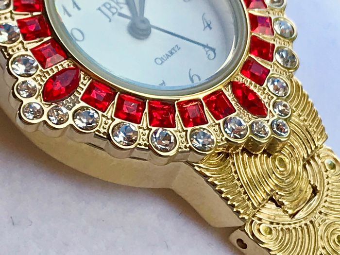 CAMROSE & KROSS - JBK Collection - 24 kt. Gold-plated - Jewelry Watch  Swarovski Ruby Colour Gems and Crystals