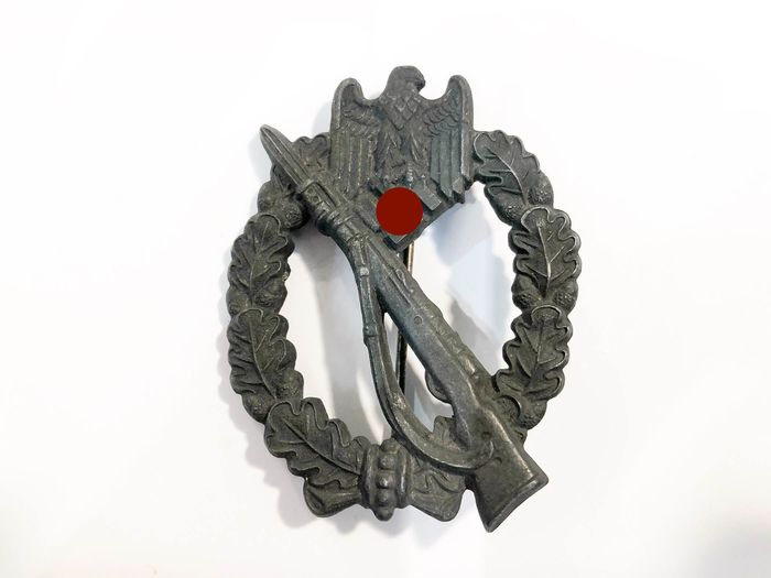 """Germany - Army/Infantry - """"Infanterie Sturmabzeichen"""" badge, marked """"R.S."""" (= Rudolf Souval, Wein)"""