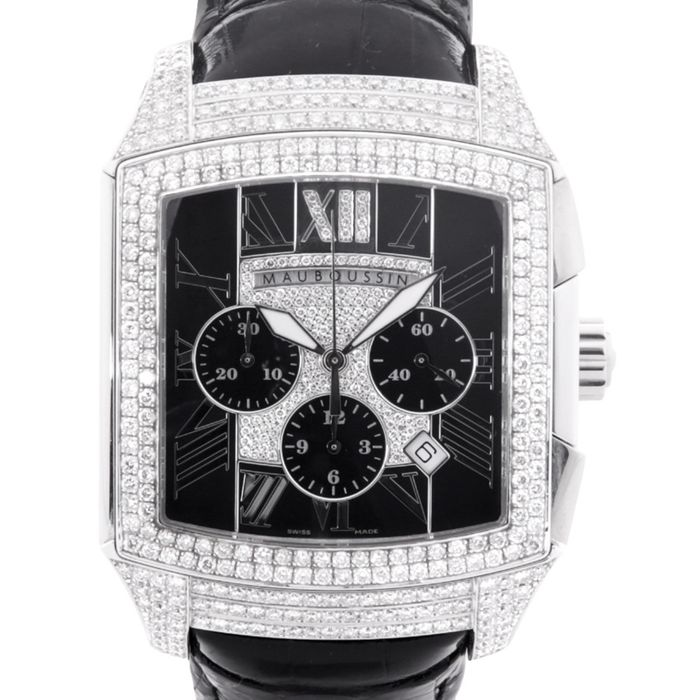 """Mauboussin - Delit """"Special Edition"""" Or Gris 18k - Full Diamants 4,70cts - Hombre - 2011 - actualidad"""