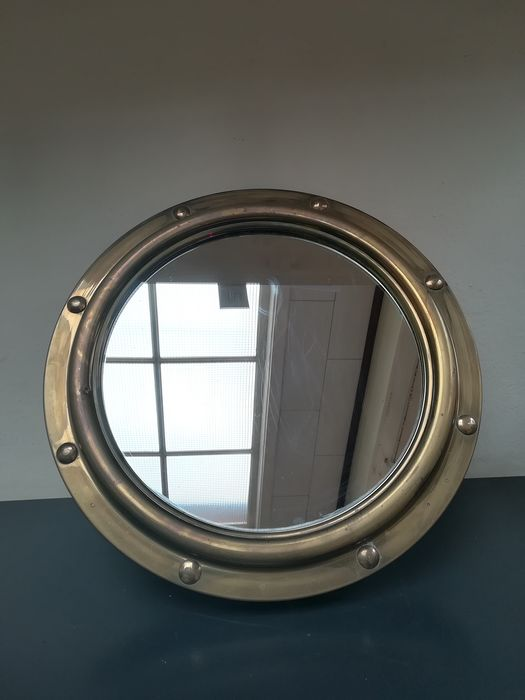 Porthole with mirror - Copper