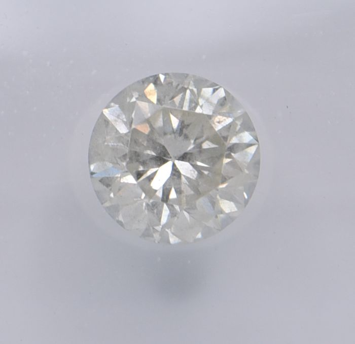 1 pcs Diamond - 0.70 ct - Round - light yellow - SI2, No Reserve Price!