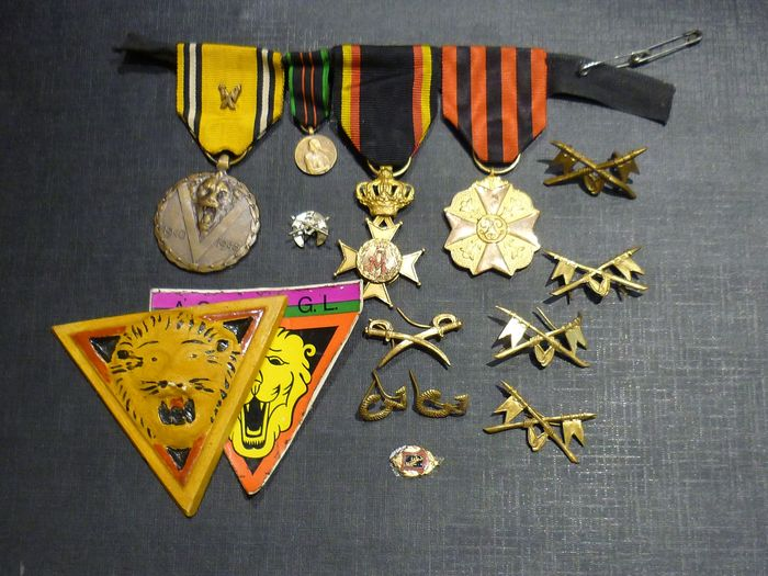 Belgium - Belgian medals and badges prize wager 39 45 WW2 (A9N) - Medal - 1945