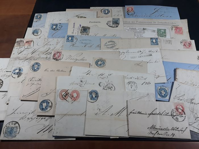 Austria 1850/1908 - Stock of old letters including prephilately, etc.