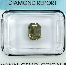 Diamant - 2.01 ct - Smaragd - Natural Fancy Light Yellowish Brown - Si1 - NO RESERVE PRICE