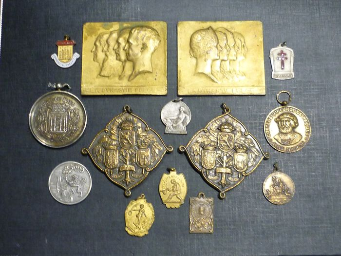 Belgium - Jackpot of old Belgian medals Kingdom of Belgium (C9N) - Medal - 1920