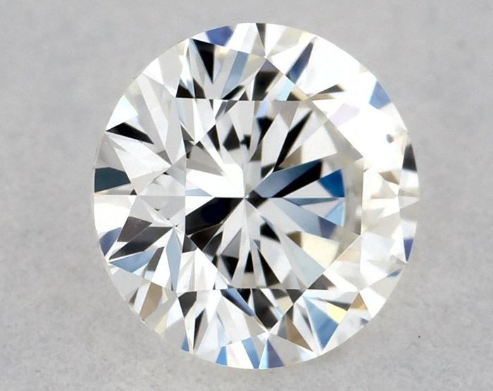 1 pcs Diamant - 0.27 ct - Briljant, Rond - H, GIA - EX/EX/VG - IF (intern zuiver), Low Reserve Price