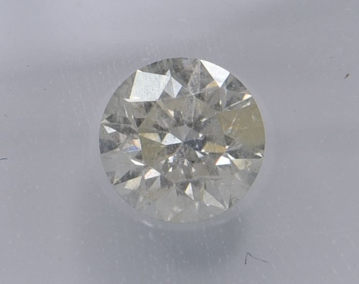 1 pcs Diamond - 0.78 ct - Round - light yellow - SI3, No Reserve Price!