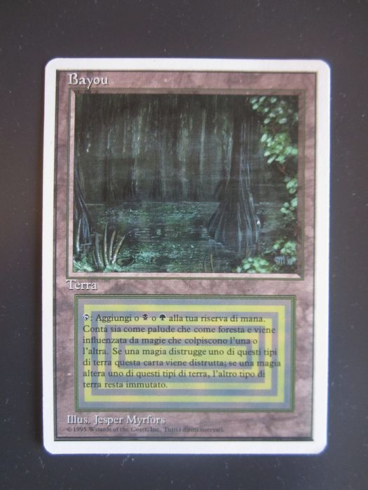 Magic: The Gathering – Bayou - Italian edition FWB 1995 - Trading card - 1995