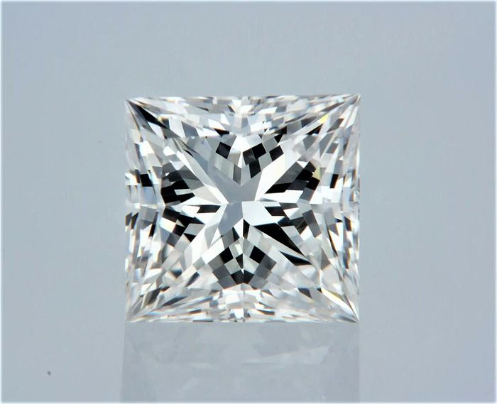 1 pcs Diamante - 0.70 ct - Princesa - E - VS2