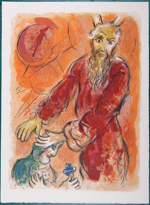 Marc Chagall - Moses blesses Joshua