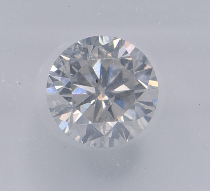1 pcs Diamond - 0.78 ct - Round - I - SI2, No Reserve Price!