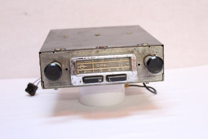 Vintage Philips radio Made for Opel  - 1980