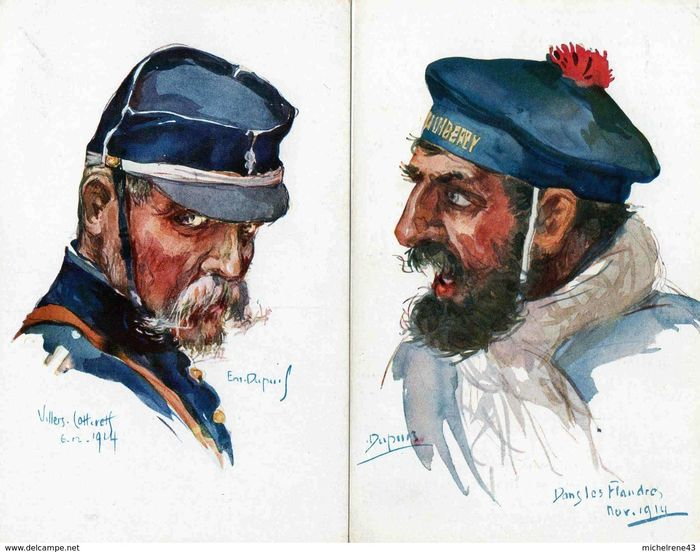 Military, Illustrator Guillaume and Emile Dupuis - Postcards (Set of 26) - 1904