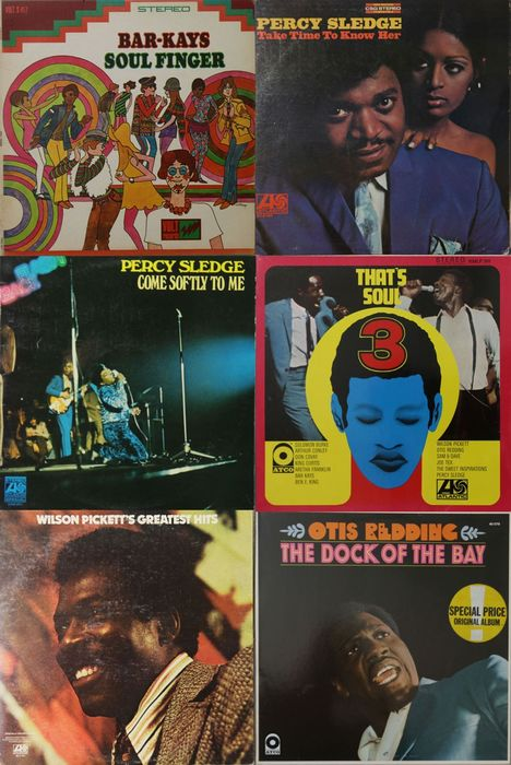 Bar-Kays, Percy Sledge, Wilson Pickett, Otis Redding - Diverse artiesten - Great Soul Records - Diverse titels - LP's - 1967/1979