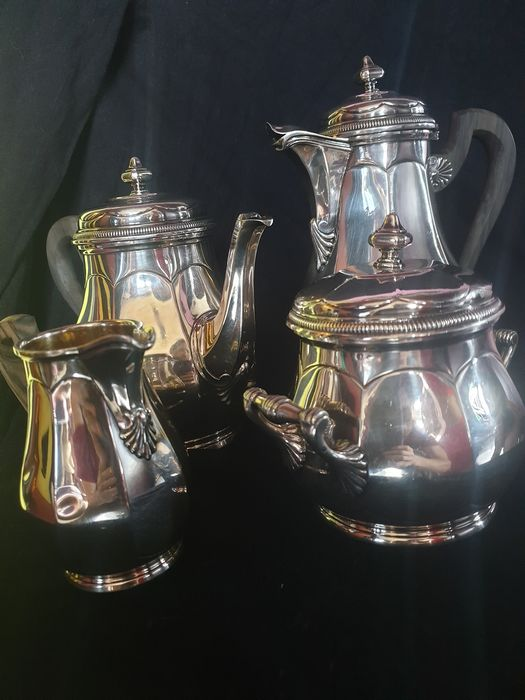 Coffee service (4) - .950 silver - France - Late 19th century