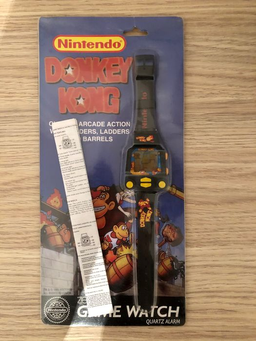 1 Nintendo, rare new Nintendo watch Donkey Kong under blister 1995 - Konsole