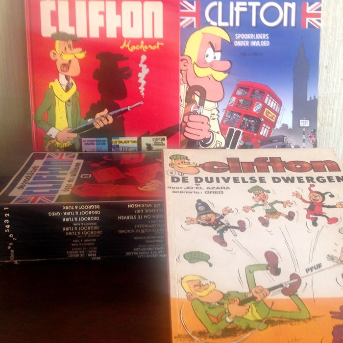 Clifton 1 t/m 12 + 14 - plus Special (Hardcover) + Favorietenreeks 10 + deel 1 vd nieuwe reeks  - Softcover - Different editions - (1971/2017)