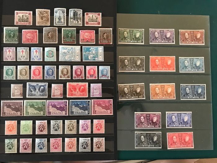 Belgium 1919/1929 - Selection with, amongst others, Jubilee series - OBP / COB 164/288A