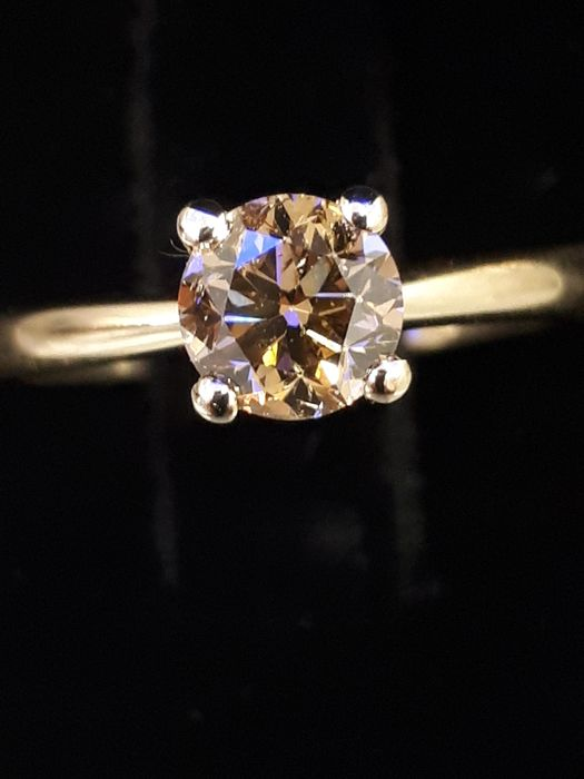 14 kt. Yellow gold - Ring - 1.00 ct Diamond