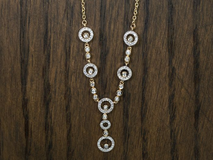 14 kt. Gold - Necklace with pendant - 0.80 ct Diamond