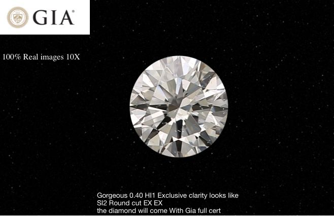 1 pcs Diamond - 0.40 ct - Brilliant - H - I1, - # 91806
