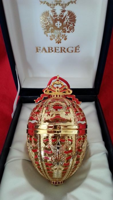 Fabergé - open egg 24 krt gold - Limited edition and signed- very very rare