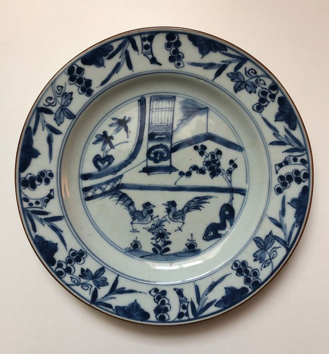 Rooster sign - Porcelain - roosters - China - Qianlong (1736-1795)