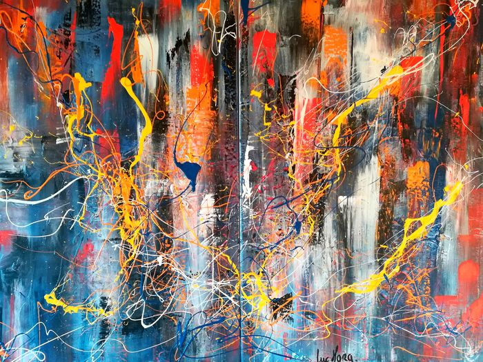 "Luc Mora - ""Abstract couleur 0013"" (diptych)"
