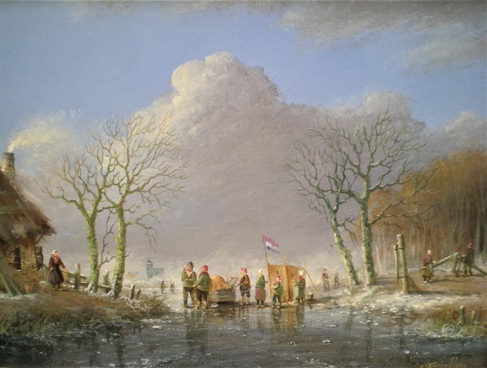Thomas Heesakkers (1946) - Winterlandschap