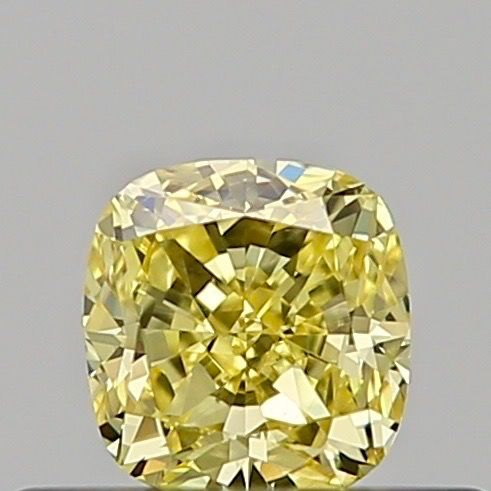 1 pcs Diamant - 0.30 ct - Coussin - fancy intens yellow - SI2, ***low reserve***