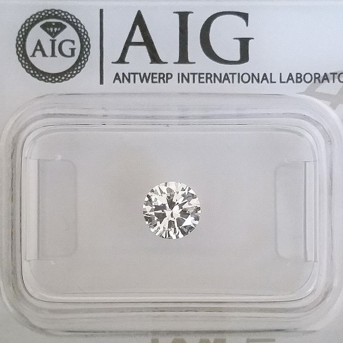 Diamond - 0.51 ct - Round - D (colourless) - IF (flawless), ***No Reserve Price***