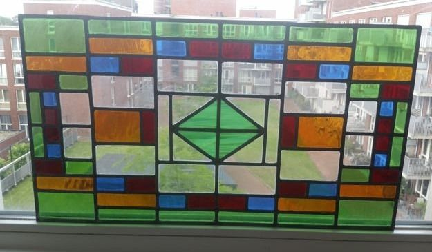 Window, with geometric pattern - Stained glass