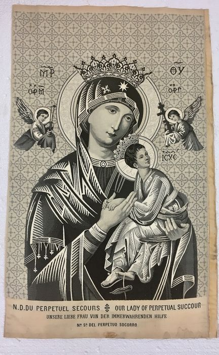 Embroidery, Icon,  Our lady of perpetual succour - Textiles - 19th century