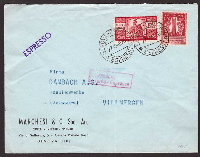 Italy Republic - Two covers and one postcard with 100 Lire 'Democratica'