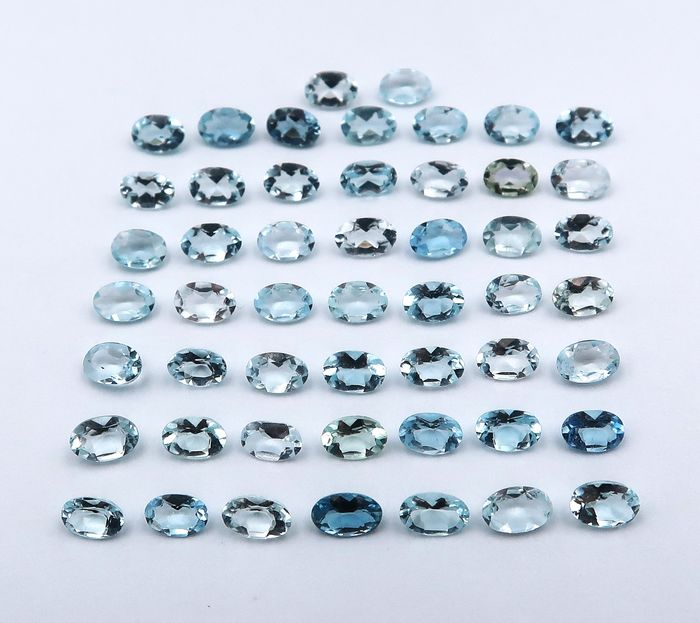 51 pcs  Aquamarine - 9.30 ct