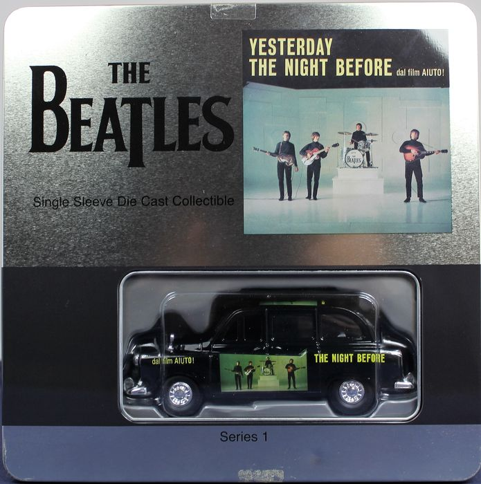 The Beatles - Yesterday, The Night before - Single Sleeve Die Cast Collectible - Including XL T-shirt, wall plaque and collectible Die-cast taxi .