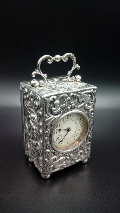 Carriage clock - Silver - 19th century