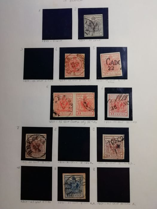 Ancient Italian States 1850 - Selection of stamps of the Ancient States, loose and on letter - Sassone vari