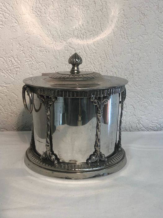 Ice bucket with cubetang (2) - Art Deco - Silver, Silverplate, 233